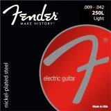 ราคา Fender® สายกีตาร์ไฟฟ้า เบอร์ 9 ของแท้ 100 รุ่น 250L Light 009 042 Made In Usa