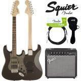 ขาย Fender® กีตาร์ไฟฟ้า รุ่น Squier Affinity Strat Hss สี Montego Black Metallic อุปกรณ์กีตาร์ Fender ของแท้ Fender ออนไลน์