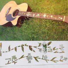 ราคา Guitar Bass Inlay Sticker Decal Fretboard Marker Elagant Flowers And Grass Style ถูก