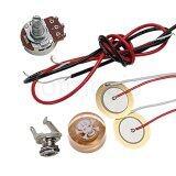 ซื้อ Guitar Piezo Pickup Knob Pot Potentiometer B500K Kit For Cigar Box Guitar Parts Replacement Intl ถูก