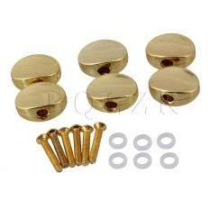 โปรโมชั่น Guitar Plastic Tuner Machine Head Buttons Set Of 6 Golden ใน จีน