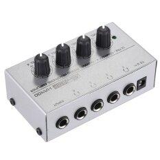Ha400 ขนาดกะทัดรัด 4 ช่องมินิหูฟังเสียงสเตอริโอพร้อมอะแดปเตอร์เพาเวอร์ ^ - Intl.