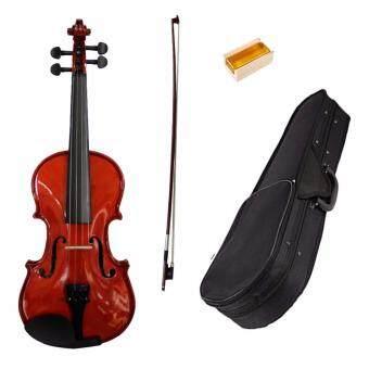 Violin ไวโอลิน รุ่น MV 012W 1/2 ไม้โซลิดอย่างดี แถมคันชัก+ยางสน+กระเป๋า
