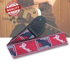 ราคา Hayashi สายสะพายกีตาร์ลาย Fender สีแดง จำนวน 1 ชิ้น ใหม่