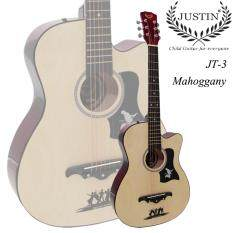 ขาย ซื้อ Justin Guitar กีต้าร์โปร่ง 38 รุ่น Jt3 สีไม้