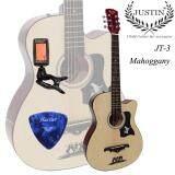 ราคา ราคาถูกที่สุด Justin Guitar กีต้าร์โปร่ง 38 รุ่น Jt3 สีไม้ แถมฟรี ที่ตั้งสาย ปิค รับประกันสินค้า 7 วัน