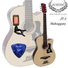 โปรโมชั่น Justin Guitar กีต้าร์โปร่ง 38 รุ่น Jt3 สีไม้ แถมฟรี ที่ตั้งสาย ปิค รับประกันสินค้า 7 วัน กรุงเทพมหานคร