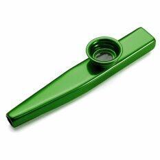 โลหะผสมอลูมิเนียม Kazoo ขลุ่ย Diaphragm ของขวัญสำหรับคนรักดนตรีสีเขียว-นานาชาติ.