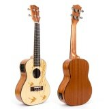 ขาย ซื้อ Kmise Concert Electric Acoustic Ukulele Solid Spruce Ukelele Uke Hawaii 4 String Guitar 18 Frets 21 Inch With 3 Band Eq Intl