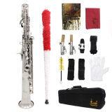 ส่วนลด สินค้า Lade Soprano Saxophone Sax Bb Brass Lacquered Gold Body And Keys