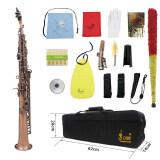 ราคา Lade Wss 899 Professional Red Bronze Straight Bb Soprano Saxophone Sax Woodwind Instrument Abalone Shell Key Carve Pattern With Case Gloves Cleaning Cloth Straps Brush Outdoorfree Intl ถูก