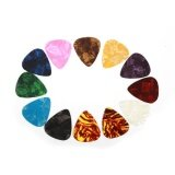 Lot 100 Picks Plectrum Acoustic Ukulele Electric Guitar Celluloid 46Mm Paddle Intl ใน จีน