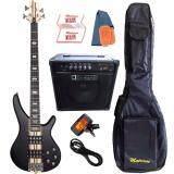 ซื้อ Matrixss เบสไฟฟ้า 4 สาย Active Bass Pick Up 4 Strings รุ่น Mb 6Bk Set ใหม่