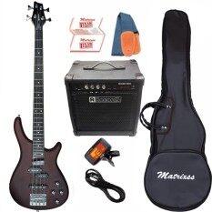 ซื้อ Matrixss เบสไฟฟ้า Electric Bass รุ่น Ib4Beige Set ถูก นนทบุรี