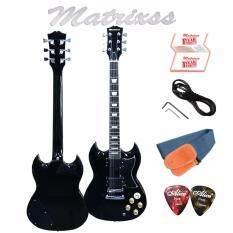 ทบทวน Matrixss กีตาร์ไฟฟ้า Electric Guitar รุ่น Sg 30Bk สายสะพายกีตาร์ สายแจ็ค ปิ๊ก 2 ใบรับประกัน Matrixss