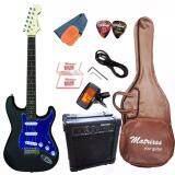 ซื้อ Matrixss กีตาร์ไฟฟ้า Electric Guitar Stratocaster รุ่น 130Bk Set Matrixss ถูก