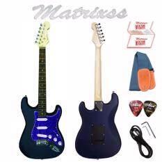 ราคา Matrixss กีตาร์ไฟฟ้า Electric Guitar Stratocaster รุ่น 130Bl สายสะพายกีตาร์ สายแจ็คกีตาร์ ที่ขันคอกีตาร์ ปิ๊ก 2 ใบรับประกัน ถูก