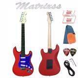 โปรโมชั่น Matrixss กีตาร์ไฟฟ้า Electric Guitar Stratocaster รุ่น 130Rd สายสะพายกีตาร์ สายแจ็คกีตาร์ ที่ขันคอกีตาร์ ปิ๊ก 2 ใบรับประกัน นนทบุรี