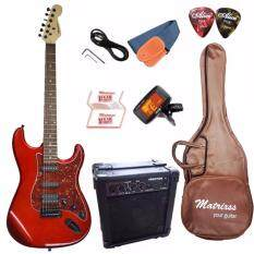 ราคา Matrixss กีตาร์ไฟฟ้า Electric Guitar Stratocaster รุ่น 230Rd Set ที่สุด