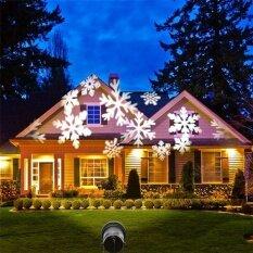 ราคา เคลื่อนย้าย Snow Laser โปรเจคเตอร์โคมไฟภูมิทัศน์กลางแจ้งเกล็ดหิมะ Led เวทีแสงพรรคกันน้ำ Christmas Light ถูก