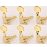 ขาย Musiclily 6 In Line Big Button Guitar Sealed Tuner Tuning Key Pegs Machine Head Set Right Hand Gold Intl ออนไลน์