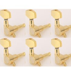 Musiclily 6 In Line Big Button Guitar Sealed Tuner Tuning Key Pegs Machine Head Set Right Hand Gold Intl เป็นต้นฉบับ