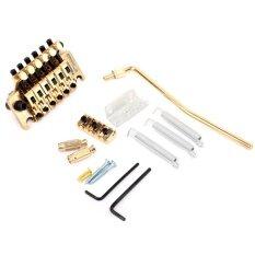 ขาย Musiclily 6 String Tremolo Guitar Bridge Double Locking System For Electric Guitar Parts Gold Intl ถูก จีน