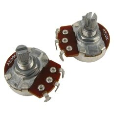 Musiclily Guitar Full Size Pots A500K Split Knurled Short 15Mm Shaft Audio Volume Taper Potentiometers For Stratocaster And Telecaster Electric Guitar Bass Parts Chrome Pack Of 4 Intl เป็นต้นฉบับ