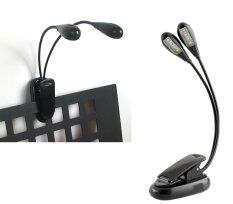 New 2 Arm 8 Led Clip On Light For Piano Music Stand Desk Laptop Black Intl เป็นต้นฉบับ