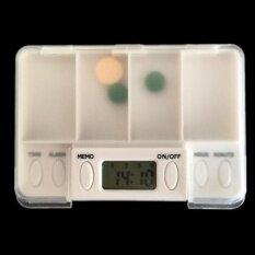 ใหม่สแควร์อัจฉริยะเตือนความจำประจำวัน 4 วันกล่องยากล่องยาแท็บเล็ตกล่องเก็บกรณีพร้อมไฟ - นานาชาติ.