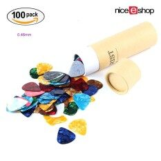 Niceeshop 100pcs Guitar Picks Colorful Assorted Pearl Celluloid Guitar Pick For Guitar Bass With Storage Box - Intl.