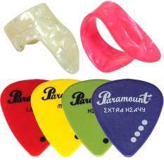 ซื้อ Paramount ชุดปิ๊กกีตาร์ รุ่น Pks7 ปิ๊กนิ้วชี้ ปิ๊กนิ้วโป้ง ปิ๊กดีดทุกความหนา ถูก