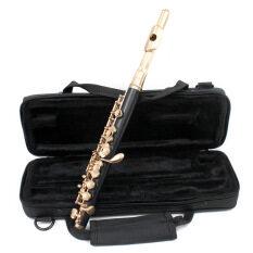 ราคา ราคาถูกที่สุด Piccolo Ottavino Half Size Flute Curonickel Silver Plated C Key Tone With Polish Cloth Cleaning Stick Padded Box Case Screwdriver