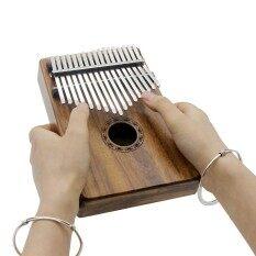 แบบพกพา 17 Key Kalimba Mbira กระเป๋าเปียโนนิ้วหัวแม่มือ Solid Acacia ของขวัญเครื่องดนตรีสำหรับคนรักดนตรีเริ่มต้นนักเรียน - Intl.