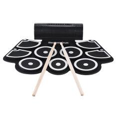 ราคา Portable Electronic Roll Up Drum Pad Set 9 Silicon Pads Built In Speakers With Drumsticks Foot Pedals Usb 3 5Mm Audio Cable Intl Unbranded Generic ออนไลน์