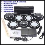 ทบทวน Portable Foldable Silicone Electronic Drum Pad Kit Digital Usb Midi Roll Up With 2 Drumstick 2 Foot Pedal 3 5Mm Audio Cable For Kids Intl