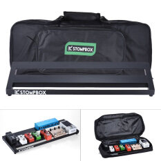 ซื้อ Portable Guitar Effect Pedal Board Pedalboard Aluminum Alloy With Carrying Bag Case Box 2 Fastener Tapes Black Intl ออนไลน์ ฮ่องกง