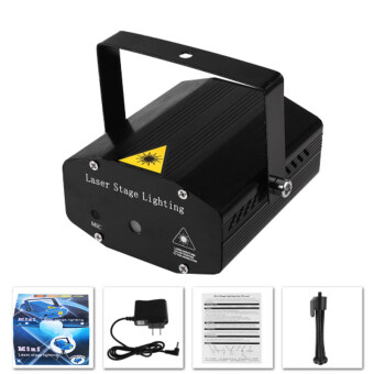 Portable Mini Led Laser Projector DJ Disco Light Red And Green Music Stage Lights Xmas Party Wedding Club Show Laser Lighting (EU plug) - intl