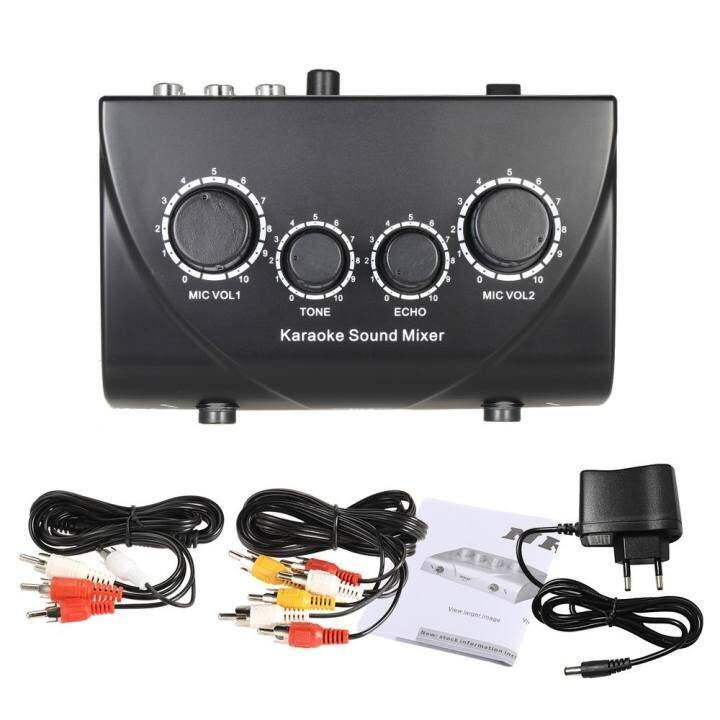 ราคา Portable Sound Audio Stereo Echo Mixer Dual ...