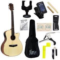 ซื้อ Romeo Guitar Autumn กีต้าร์โปร่งไฟฟ้า ไม้โซลิดสปรูซอย่างดี รุ่น The One พร้อมที่ตั้งสาย คอแขวน สายกีต้าร์ กระเป๋ากีต้าร์ คู่มือตารางคอร์ด คาโป้ บ่าบน บ่าล่าง ที่ขันสาย ที่ตัดสาย หกเหลี่ยม Romeo ถูก