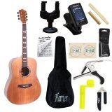 ราคา Romeo Guitar กีต้าร์โปร่ง Solid Cedar รุ่น R11X พร้อมที่ตั้งสาย คอแขวน สายกีต้าร์ กระเป๋ากีต้าร์ คู่มือตารางคอร์ด คาโป้ บ่าบน บ่าล่าง ที่ขันสาย ที่ตัดสาย หกเหลี่ยม ใน กรุงเทพมหานคร