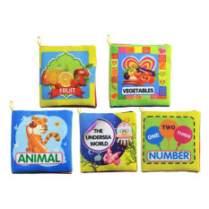 ขาย ซื้อ Set Of 5 Baby Soft Cloth Book For Learning Animals Numbers Vegetables Fruit And The Undersea World Toddler Educational Fabric Book Intl ใน สมุทรปราการ