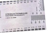 ขาย Steel String Action Gauge Ruler Guide Setup Measuring Luthier For Guitar Bass Silver Intl ใน จีน