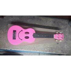 Surprise Ukulele (smile Pink) อูคูเลเล่ สีชมพู หน้ายิ้ม By Wsocialtrade.