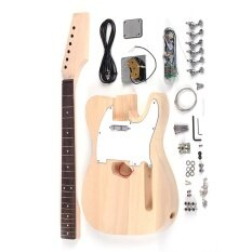 โปรโมชั่น Tele Style Unfinished Diy Electric Guitar Kit Basswood Body Maplenneck Rosewood Fingerboard Outdoorfree Intl ใน ชิลี
