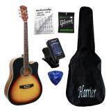 ราคา Titus Guitar กีต้าร์โปร่ง 41 นิ้ว รุ่น Tt1 Sunburst พร้อมที่ตั้งสาย สายกีต้าร์gibsun กระเป๋ากีต้าร์ คู่มือตารางคอร์ด ปิค เป็นต้นฉบับ
