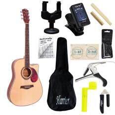 Titus Guitar กีต้าร์โปร่ง รุ่น Tx8 พร้อมที่ตั้งสาย คอแขวน สายกีต้าร์ กระเป๋ากีต้าร์ คู่มือตารางคอร์ด คาโป้ บ่าบน บ่าล่าง ที่ขันสาย ที่ตัดสาย หกเหลี่ยม เป็นต้นฉบับ