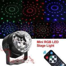 ซื้อ Tmishion 3W 110 240V Mini Rgb Led Stage Light Pub Disco Party Effect Lamp With Remote Controller Us Plug Intl จีน