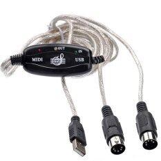 ราคา Usb Midi Cable Converter Pc To Music Keyboard Adapter Black ใหม่
