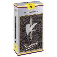โปรโมชั่น Vandoren ลิ้นบีแฟลต คลาริเน็ต รุ่น V 12 กล่องเทา เบอร์ 3 กล่องละ 10 อัน Vandoren ใหม่ล่าสุด
